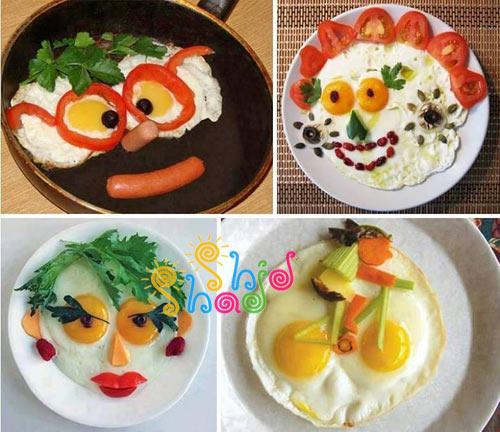 تزیین نیمرو صبحانه