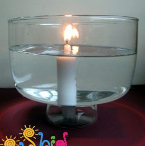 شمع زیر آب-آزمایش علمی