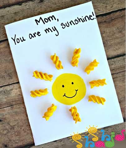 کاردستی کارت پستال هدیه روز مادر و روز پدر