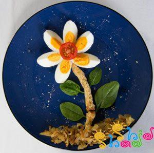 صبحانه تخم مرغ-تزیین تخم مرغ