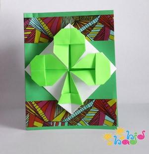 اوریگامی شبدر