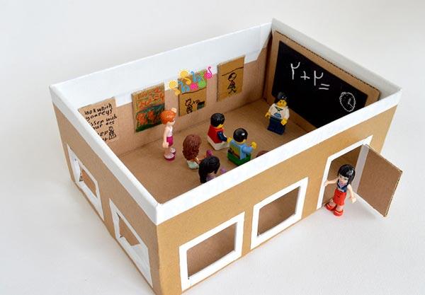 کاردستی-جعبه-کفش-مدرسه
