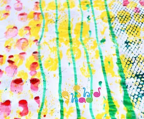 ایده-نقاشی-چاپ کودک