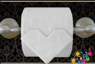 رول-دستمال-توالت اوریگامی