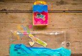 نقاشی و کاردستی-بر-روی-پلاستیک