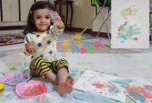 نقاشی-رنگ-انگشتی با کف دست و پا