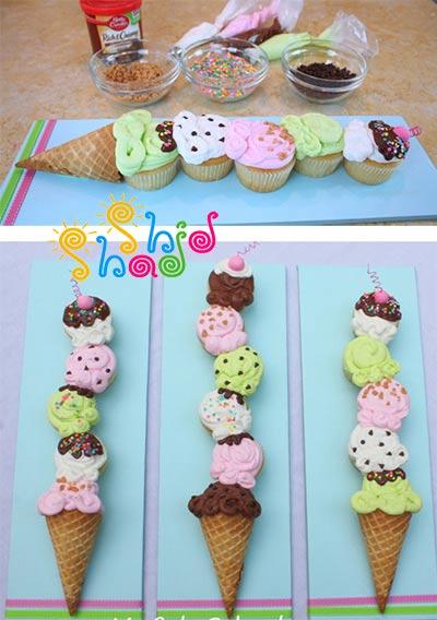 کاپ-کیک-بستنی