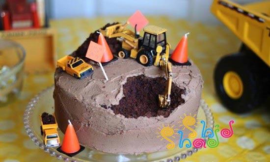 کیک-تولد شکلاتی