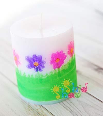 کاردستی-شمع