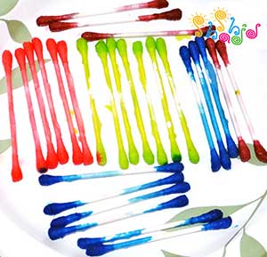Colored-Q-Tips-For-Crafts