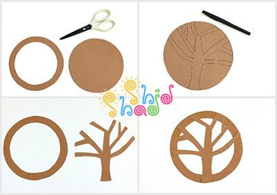 کاردستی-درخت-بهاری