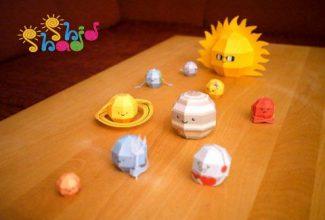 کاردستی منظومه شمسی