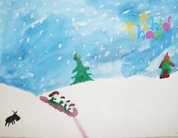 نقاشی-برف