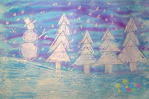 نقاشی-زمستان-کودکانه