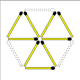 Easy Triangles Matchsticks Puzzle And Answer